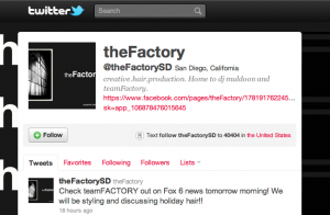 theFactory on Twitter
